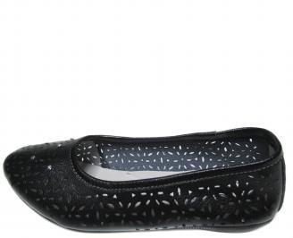 Дамски ежедневни обувки естествена кожа черни DDXO-20936