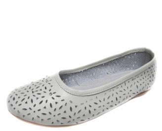 Дамски ежедневни обувки естествена кожа бели SVQJ-20937