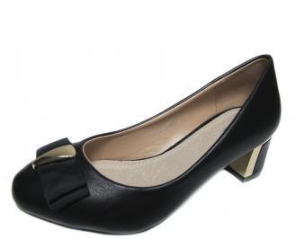 Дамски ежедневни обувки черни еко кожа UFDH-20954