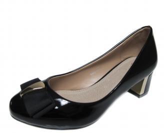 Дамски ежедневни обувки еко кожа/лак черни DDUX-20958