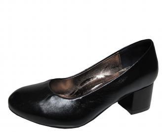 Дамски ежедневни обувки естествена кожа черни VCCS-21475