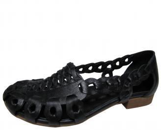 Дамски ежедневни обувки естествена кожа черни WPRO-21781