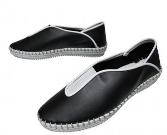 Дамски ежедневни обувки еко кожа черни YXVR-21837