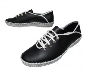 Дамски ежедневни обувки естествена кожа черни QKVT-21842