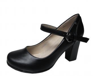 Дамски ежедневни обувки еко кожа черни RMGD-22135