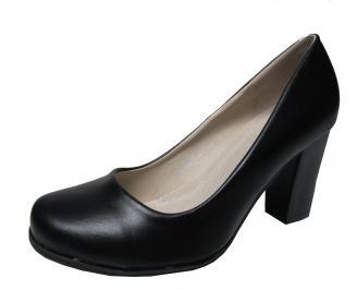 Дамски ежедневни обувки черни еко кожа LERB-22136