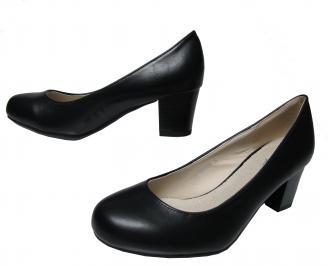 Дамски ежедневни обувки еко кожа черни MSPE-22137