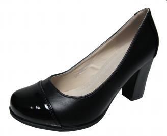 Дамски ежедневни обувки еко кожа черни PNMX-22138