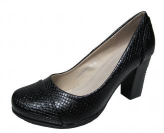 Дамски ежедневни обувки еко кожа черни CTTB-22139