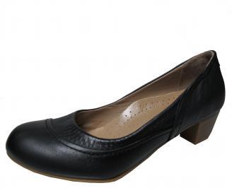 Дамски ежедневни обувки естествена кожа черни EOGW-22266