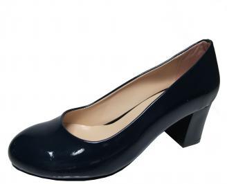 Дамски ежедневни обувки еко кожа /лак тъмно сини QGZK-22307