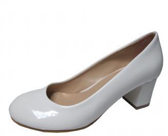 Дамски ежедневни обувки еко кожа /лак бели XHKI-22335