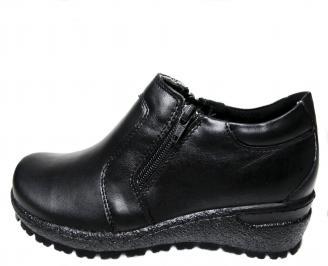 Дамски ежедневни обувки естествена кожа черни WMYS-22682