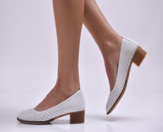Дамски ежедневни обувки естествена кожа бели JOTM-22868