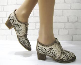 Дамски ежедневни обувки естествена кожа бежови ADUA-22881