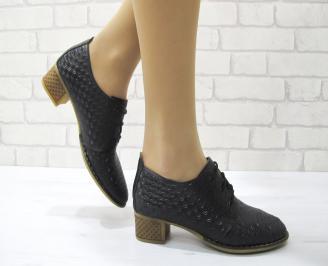 Дамски ежедневни обувки естествена кожа черни DAAQ-22882