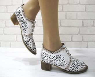 Дамски ежедневни обувки естествена кожа бели MUAF-22883