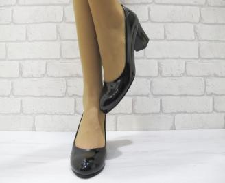 Дамски ежедневни обувки еко кожа/лак черни GCST-22984