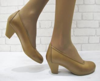 Дамски ежедневни обувки естествена кожа кафяви VVIZ-23137