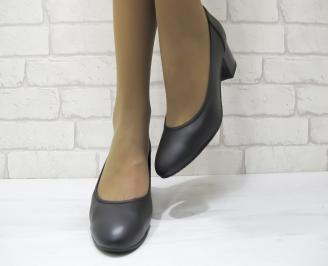 Дамски ежедневни обувки естествена кожа черни SIAB-23164