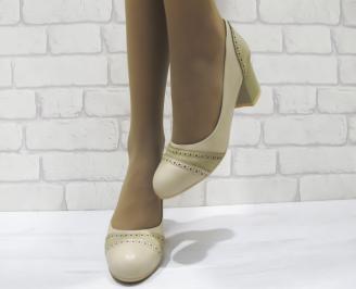 Дамски ежедневни обувки бежови  еко кожа LCNH-23282