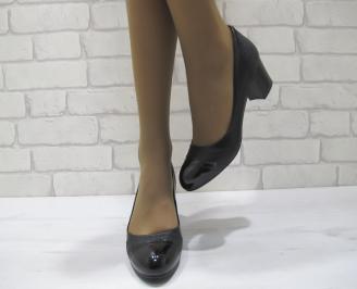Дамски ежедневни обувки  черни  еко кожа IWGL-23290