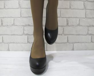Дамски ежедневни обувки черни  еко кожа TFZO-23294