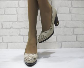 Дамски ежедневни обувки  сиви  еко кожа BOFV-23299