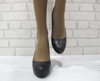 Дамски ежедневни обувки  черни еко кожа FKJU-23302