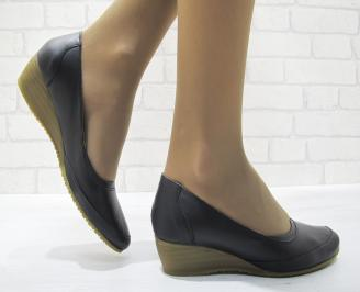 Дамски ежедневни обувки черни естествена кожа ZEOE-23687