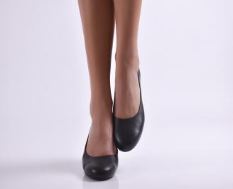 Дамски ежедневни обувки естествена кожа черни KTLK-23691