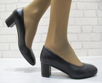 Дамски ежедневни обувки естествена кожа черни XTYR-23692