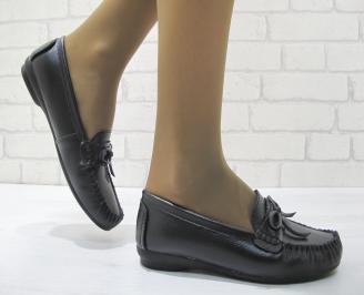 Дамски ежедневни обувки  черни естествена кожа PYVB-23699