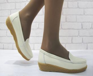 Дамски ежедневни обувки  бежови естествена кожа GVXO-23700