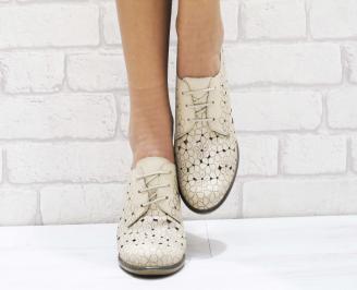 Дамски ежедневни обувки естествена кожа бежови WPSH-23729
