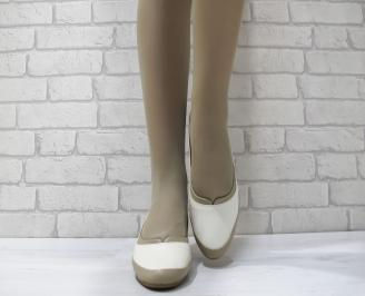 Дамски ежедневни обувки естествена кожа бежови LXHL-23740