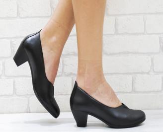 Дамски ежедневни обувки естествена кожа черни KGND-26381