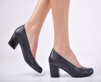 Дамски ежедневни обувки естествена кожа черни DOFC-26384