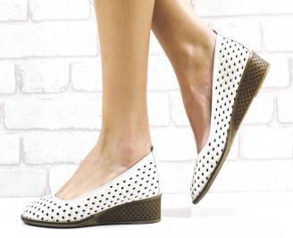 Дамски ежедневни обувки естествена кожа бежови BLQS-26486
