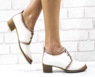 Дамски ежедневни обувки естествена кожа бежови RFRV-26488