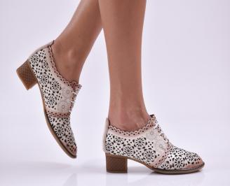 Дамски ежедневни обувки естествена кожа бежови AIVN-26553
