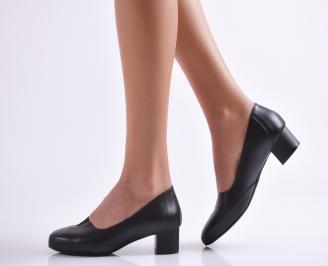 Дамски ежедневни обувки естествена кожа черни NJXG-26913
