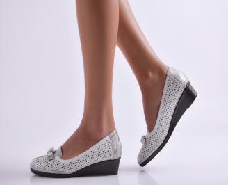Дамски ежедневни обувки еко кожа бели EDNC-26925