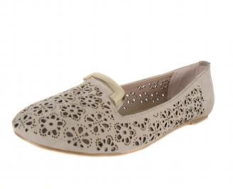 Дамски ежедневни обувки еко кожа бежови WHXZ-18305