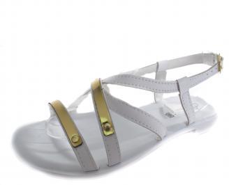 Дамски ежедневни сандали бели еко кожа XELD-19266