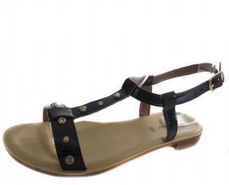 Дамски ежедневни сандали черни еко кожа KLVC-19270