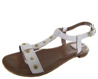 Дамски ежедневни сандали бели еко кожа TJSR-19272