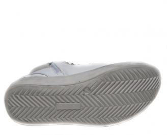 Дамски кецове Bulldozer еко кожа бели GIJJ-14916