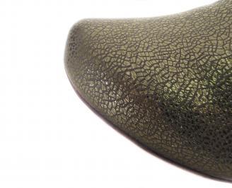 Дамски летни боти еко кожа златисти TYJG-18312