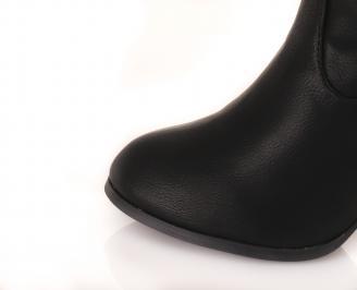 Дамски  летни ботуши еко кожа черни ASQE-16260
